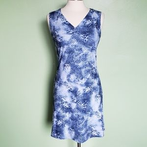 Fashion Bug Blue White Sleeveless Dress